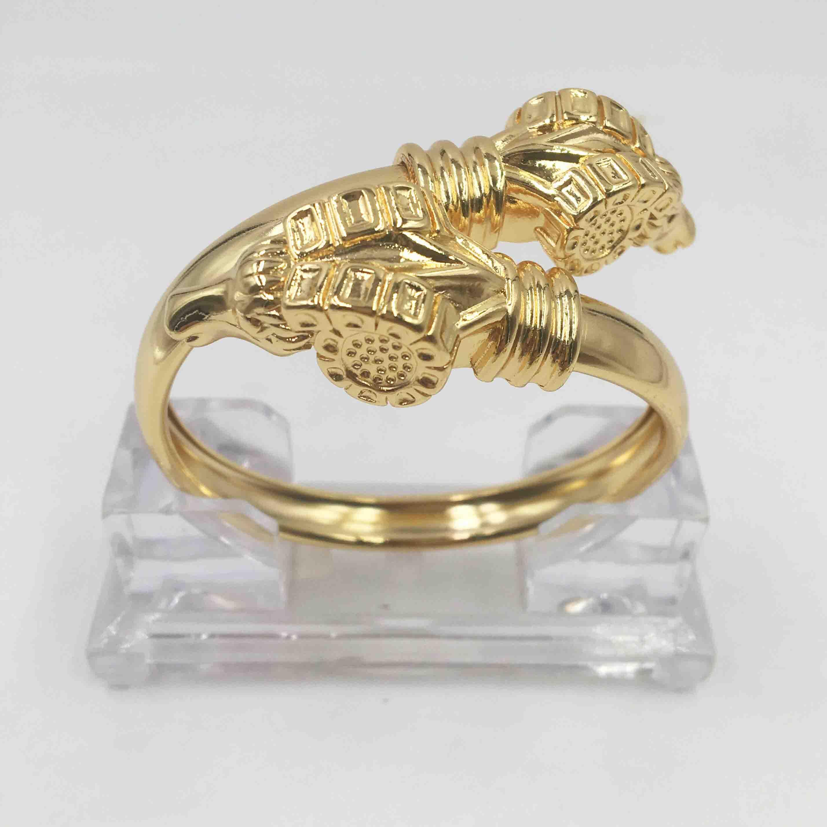 Alta qualidade italiano ouro colorido conjunto de jóias para mulheres africano frisado jóias moda pulseiras e anéis