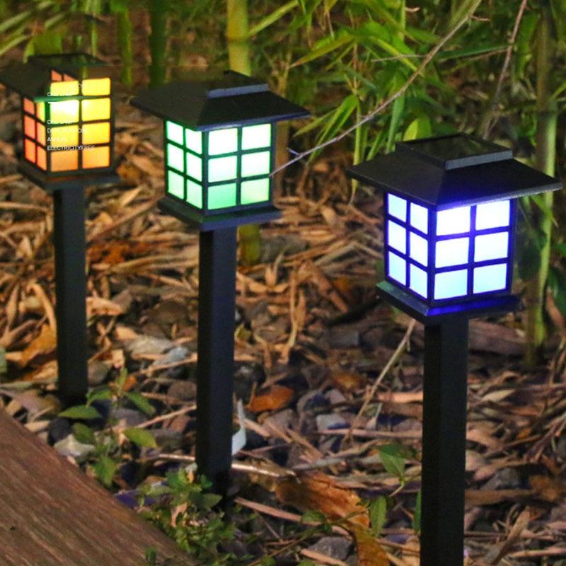 Lumière de noël en plein air solaire lumière Led étanche veilleuse pelouse lampe chemin cour paysage lampe jardin décoration de noël