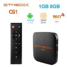 Originele Global Gtmedia G1 Tv Box 4K Android Tv 7.1 Ultra Hd Amlogic S905W 1G 8G Wifi google Cast Iptv Set Top Box Media Player