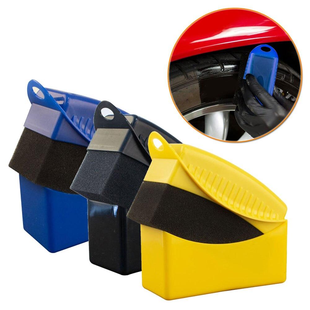 Губка для полировки и воска на автомобильные колеса, Губка из АБС-пластика, щетка для мойки, инструмент, Прямая поставка, 1 шт.