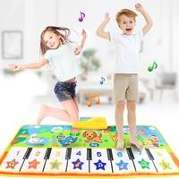 Музыкальный коврик с голосом животного, детское пианино, ковер для игр, музыкальный игровой инструмент, Игрушки для раннего развития, подар...