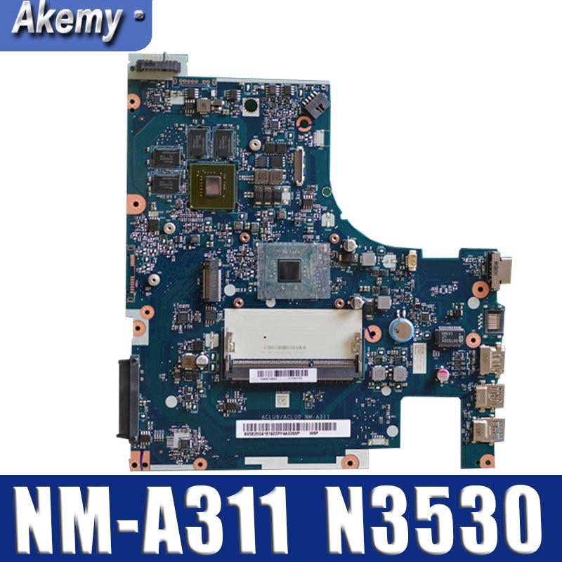 Абсолютно новый! ACLU9 / ACLU0 NM-A311 материнская плата для Lenovo G50-30 материнская плата для ноутбука (для процессора intel N3530) 100% протестирована