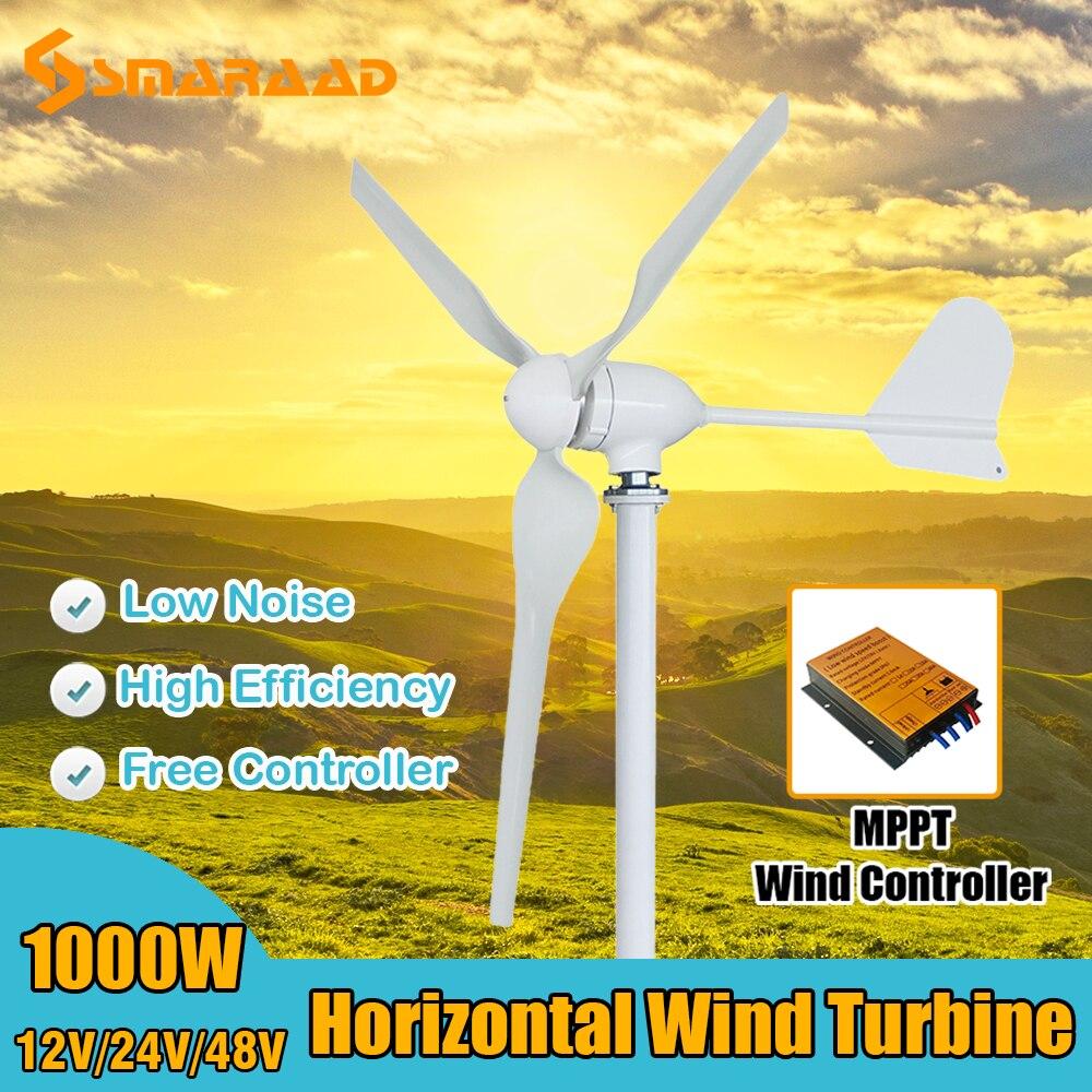 مطحنة سقف المنزل توربينات الرياح الصغيرة 1000 واط مولد الرياح طاحونة الرياح مولد الطاقة نظام المنزل مع شحن مجاني MPPT المراقب المالي