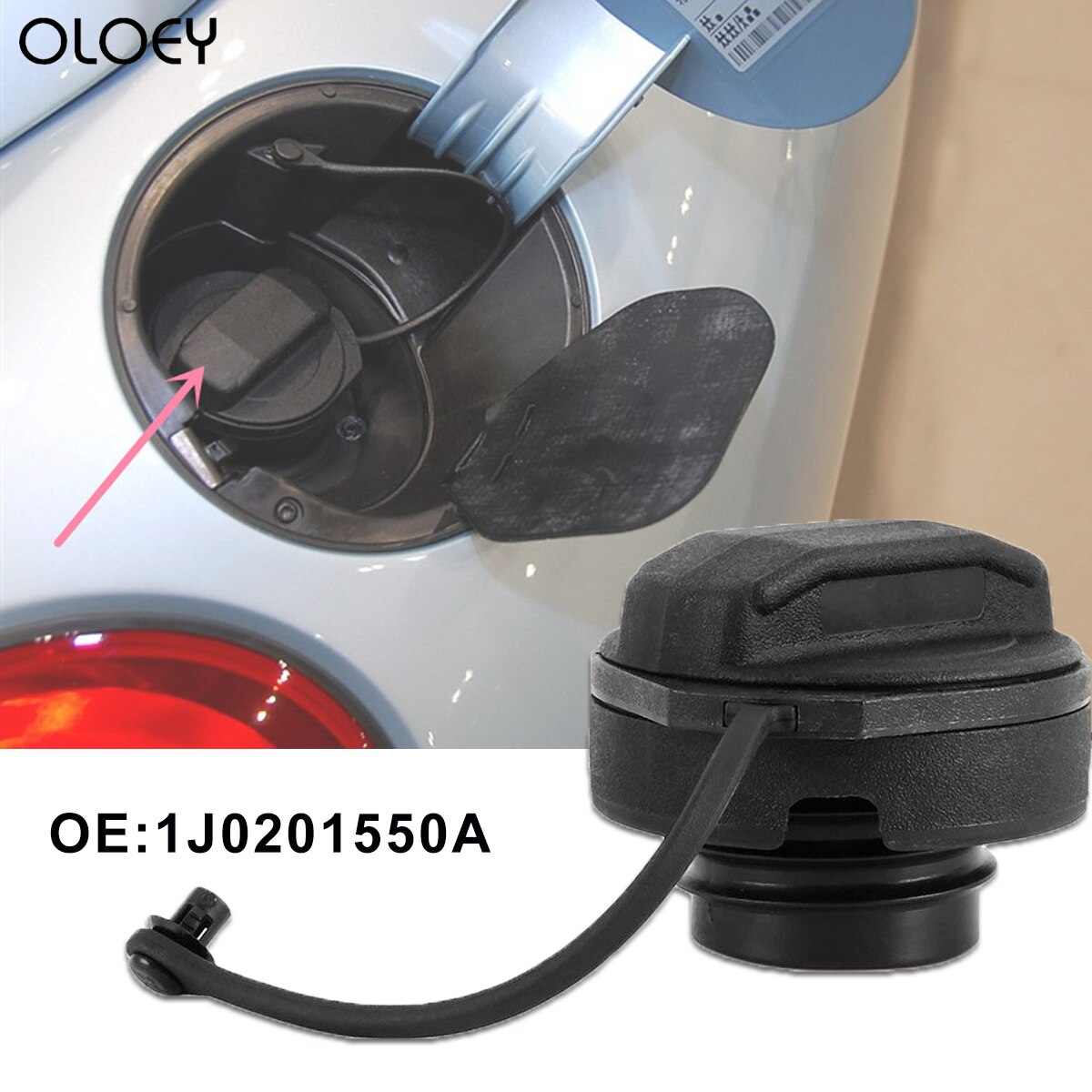 Oloey 1j0201550a tampa do tanque de combustível capa a gasolina diesel para golfe jetta bora polo a2 a4 a6 tampa enchimento do tanque gás frete grátis