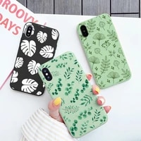 retro flower leaf leaves phone case for iphone 12 11 pro max x xs max xr 6s 7 8 plus se 2020 soft silicone shockproof back cover