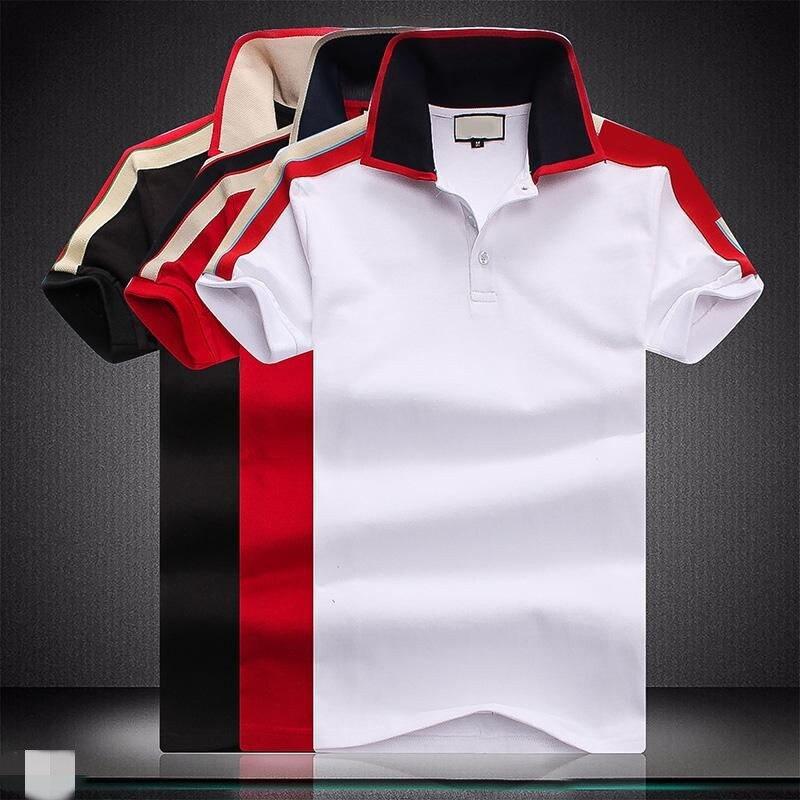 20201Top جودة جديد بلون قمصان رجالي بولو 100% ٪ قطن قصير الأكمام ملابس رجالية موضة الصيف التلبيب ذكر بلايز