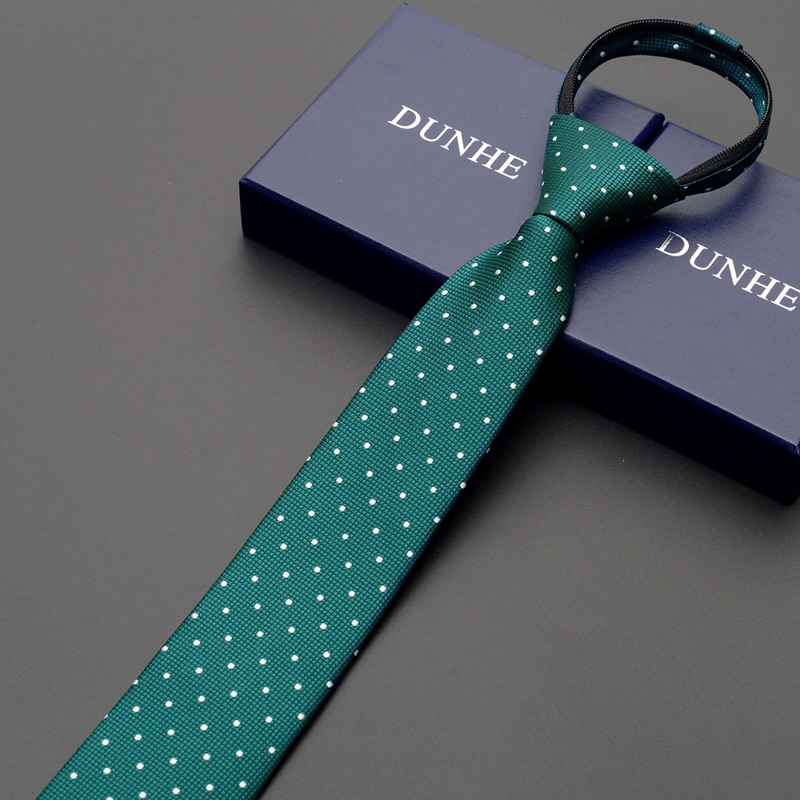 High Quality 2019 New Designers Brands Fashion Business Casual 6cm Slim Ties for Men Zipper Necktie Formal Office with Gift Box