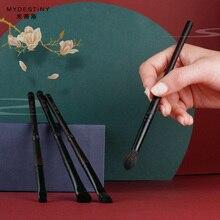 Pinceau de maquillage mydestin-le bambou brumeux Classial Eboy Series-4pcs pinceaux pour les yeux luxueux et poils danimaux naturels soigneusement choisis