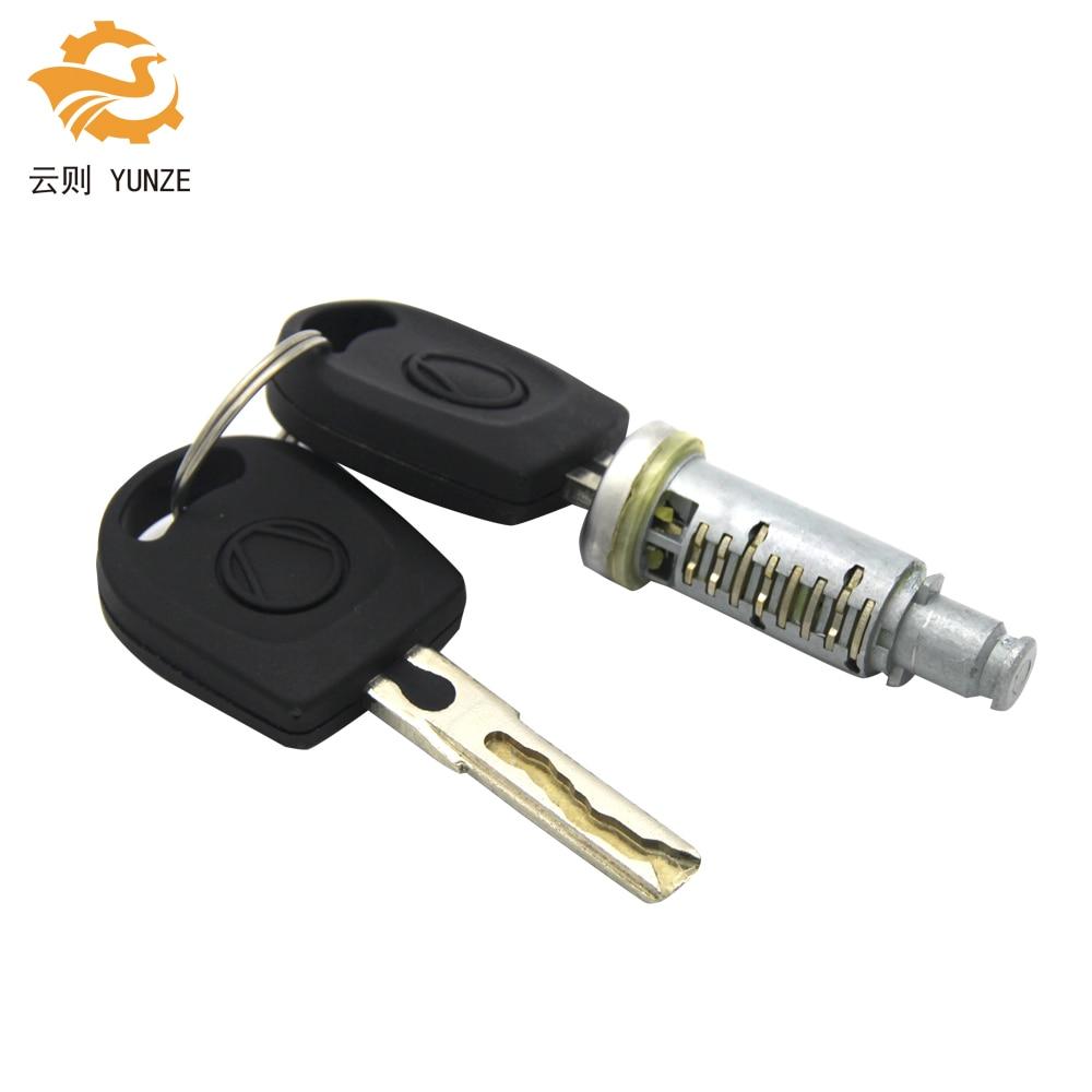 1 шт. замок баррель с 2 ключами подходит для VW GOLF 4 IV MK4 A6 SKODA FABIA POLO 9N сиденье PASSAT для левой и правой стороны