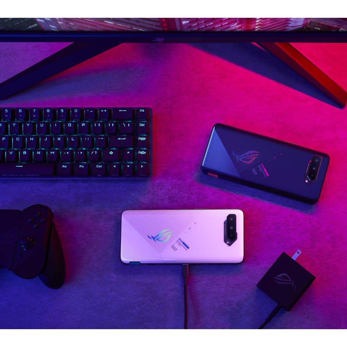 Фото3 - Официальный телефон ASUS ROG с глобальной прошивкой, женственный телефон, игровой телефон с процессором Snapdragon 888 +, смартфон 65 Вт, зарядка 6000 мАч,...