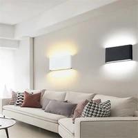 6w 12w led aluminum wall lamp outdoor waterproof ip65 porch wall lamp wall lamp balcony balcony decorative lighting ac85 265v