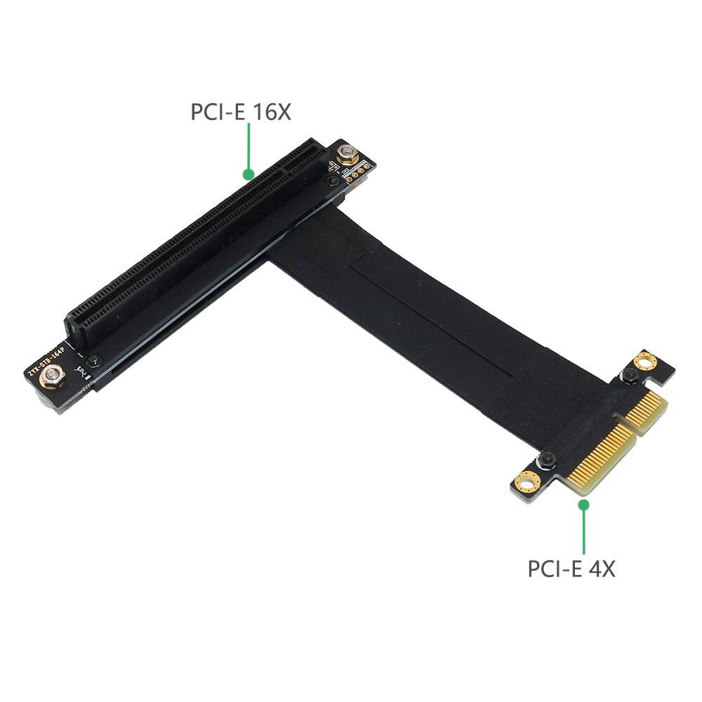 كابل تمديد PCI-e PCI Express من 16X إلى 4X ، مع قاعدة مغناطيسية
