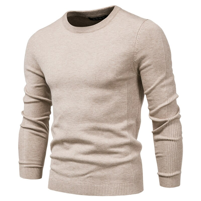 4XL Men 2020 Autumn New Casual Solid Thick Wool Cotton Sweater Pullovers Men Outfit Fashion Slim Fit