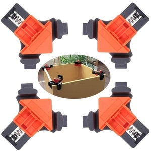 1pc 90 Degree Right Angle Clamp Fixing Clips Picture Frame Corner Clamp Woodworking Corner Clip Positioning Fixture Tools