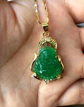 2 Style Lucky Green Jades  Buddha Pendant&Necklace