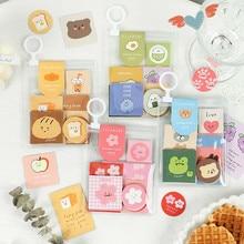 Mohamm 40Pcs/Pack Animal Bread Sticker Flakes Scrapbook Paper  Sticker Stationery Accessories School Art Supplies Photos Albums