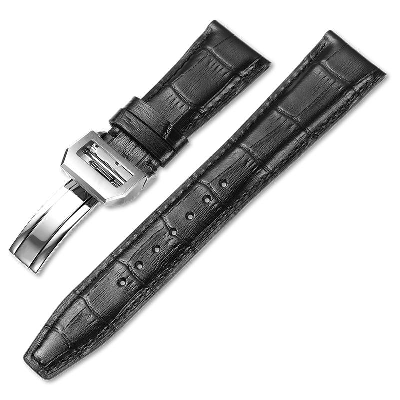 Grão para Iwc Pulseira de Relógio de Couro Pulseira de Couro Pulseira de Relógio Irap Italiano Jacaré Artesanal 21mm 22mm Genuíno 20mm