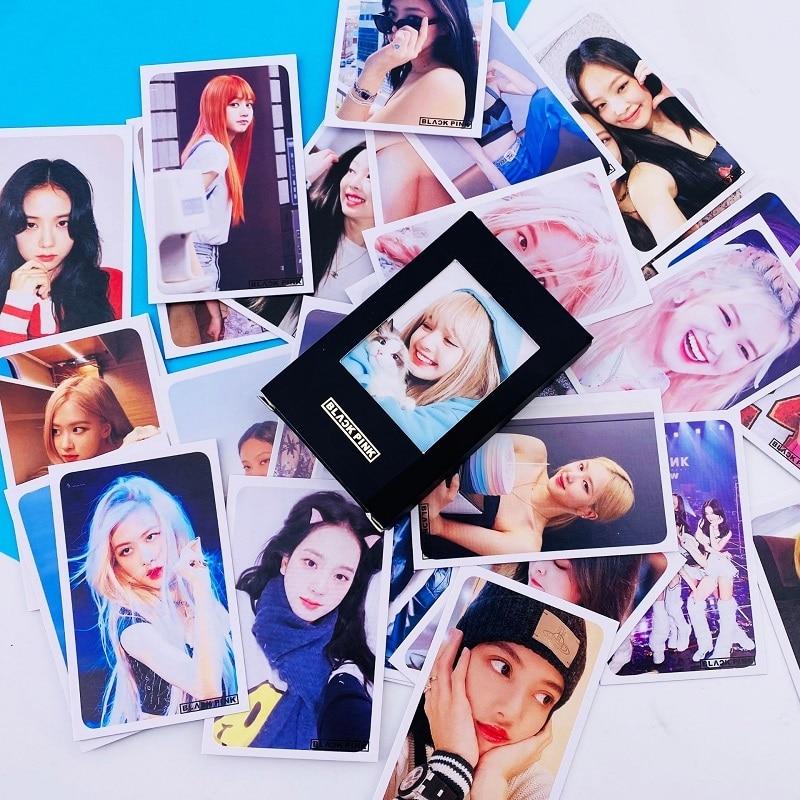 KPOP Bangtan Boys Exo Powder Ink Got7 Nct Stray Kids Hot Stamping Small Card LOMO Card Life Photo