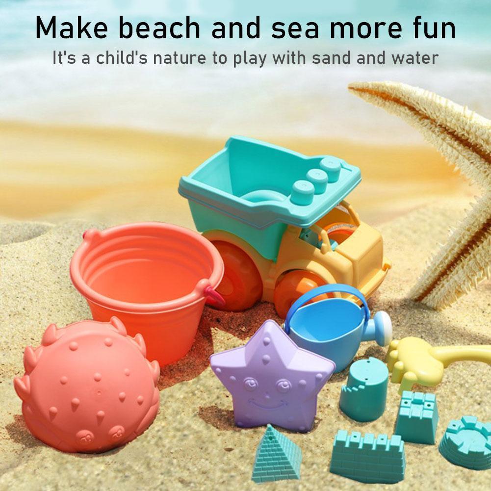 Детские пляжные игрушки, детские игрушки Sandbox, силиконовые мягкие детские игрушки, игрушки для пляжа, игры в песчаную воду, игровая тележка