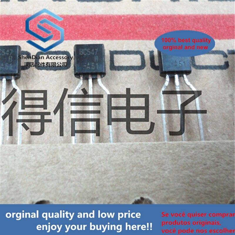30 Uds 100% original nuevo BC547B BC547 547 a-9245 V, 100 mA NPN transistores de propósito general foto real