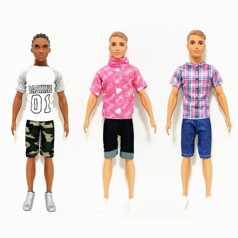 newest handmade fashion 14 items set doll accessories 1 toys suv 13 accessories lover travel auto cars for barbie ken car toy Fashion Ken Street Fashion Outfits Set for Barbie  BJD Doll Clothes  Accessories Play House Dressing Up  Kids Toys