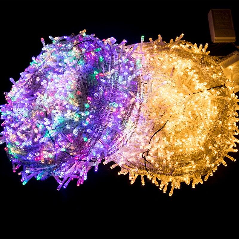 Cortina de luzes para o quarto, bateria decorativa para decoração de natal e ano novo, para festa de aniversário e jardim, para áreas externas