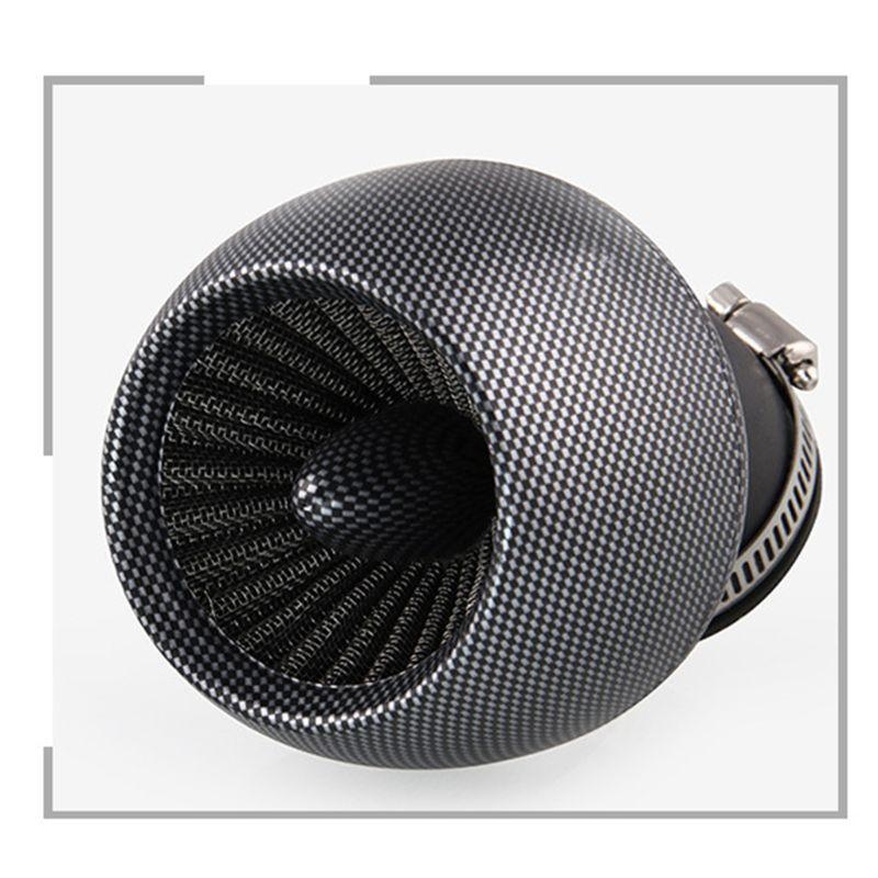 2020 nuevo filtro de aire Universal de fibra de carbono 48mm para motocicleta scooter ATV 150cc-250cc