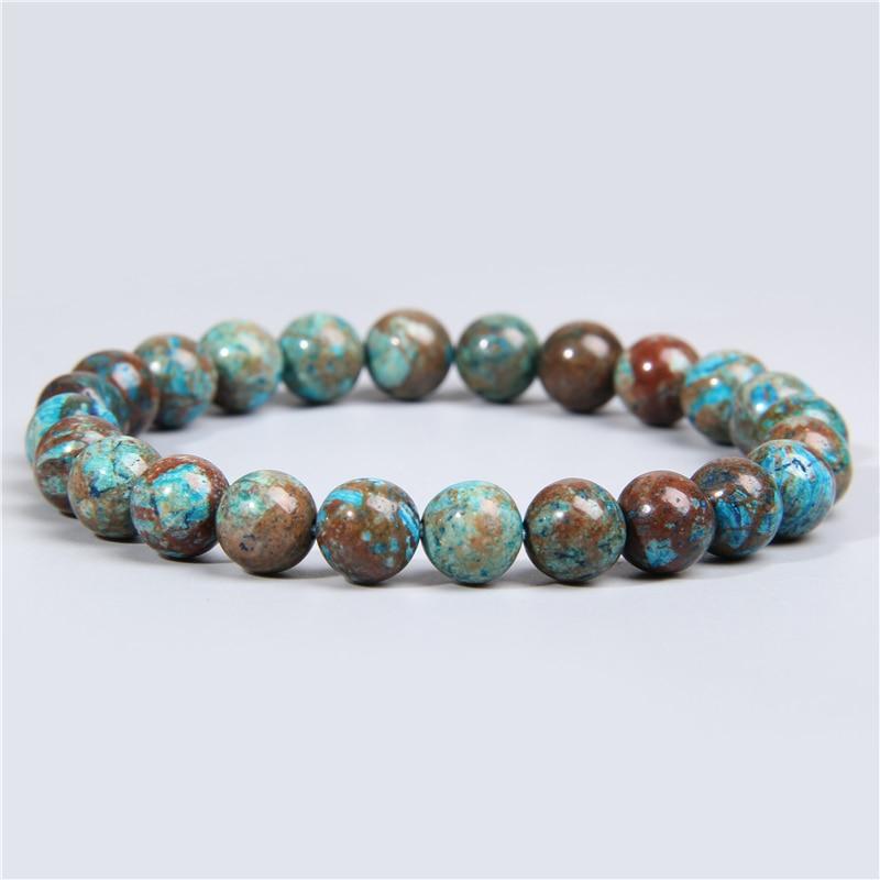 Real natural lace crazy agates stone beads bracelet smooth matte lapis lazuli fluorite quartz crystal beads bracelet men jewelry