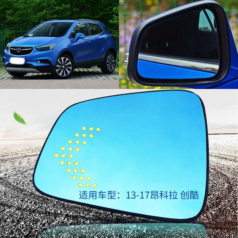 Para Buick Encore espejo retrovisor para coche gafas azul a prueba de brillo señal de giro calentado