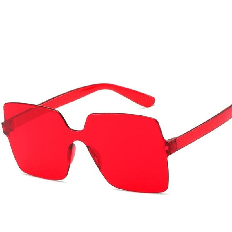 Gafas de sol cuadradas de gran tamaño, gafas de sol para mujer 2020 en amarillo, naranja, blanco, verde, azul, sin marco, gafas de sol sexis para mujer