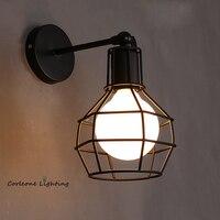Фоновая фотография в стиле ретро лампы Винтаж промышленные железная художественная стена светильник прикроватный светильник Гостиная бра...