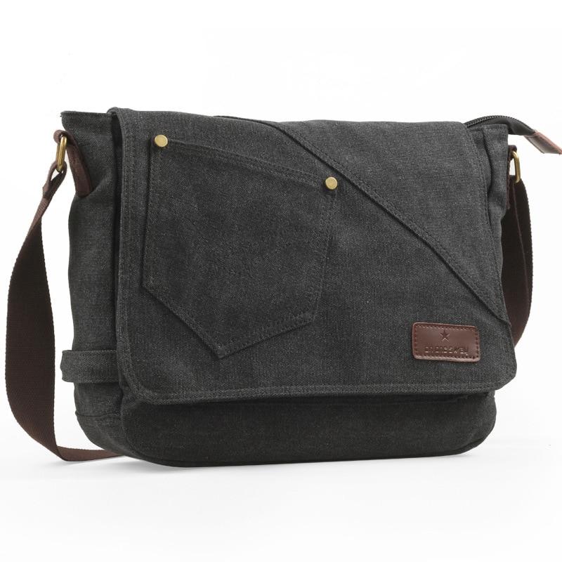 Mens Canvas Crossbody Casual Shoulder Bags Vintage Messenger Travel handbags Fashion student Scholl Bag Briefcase Laptop bag