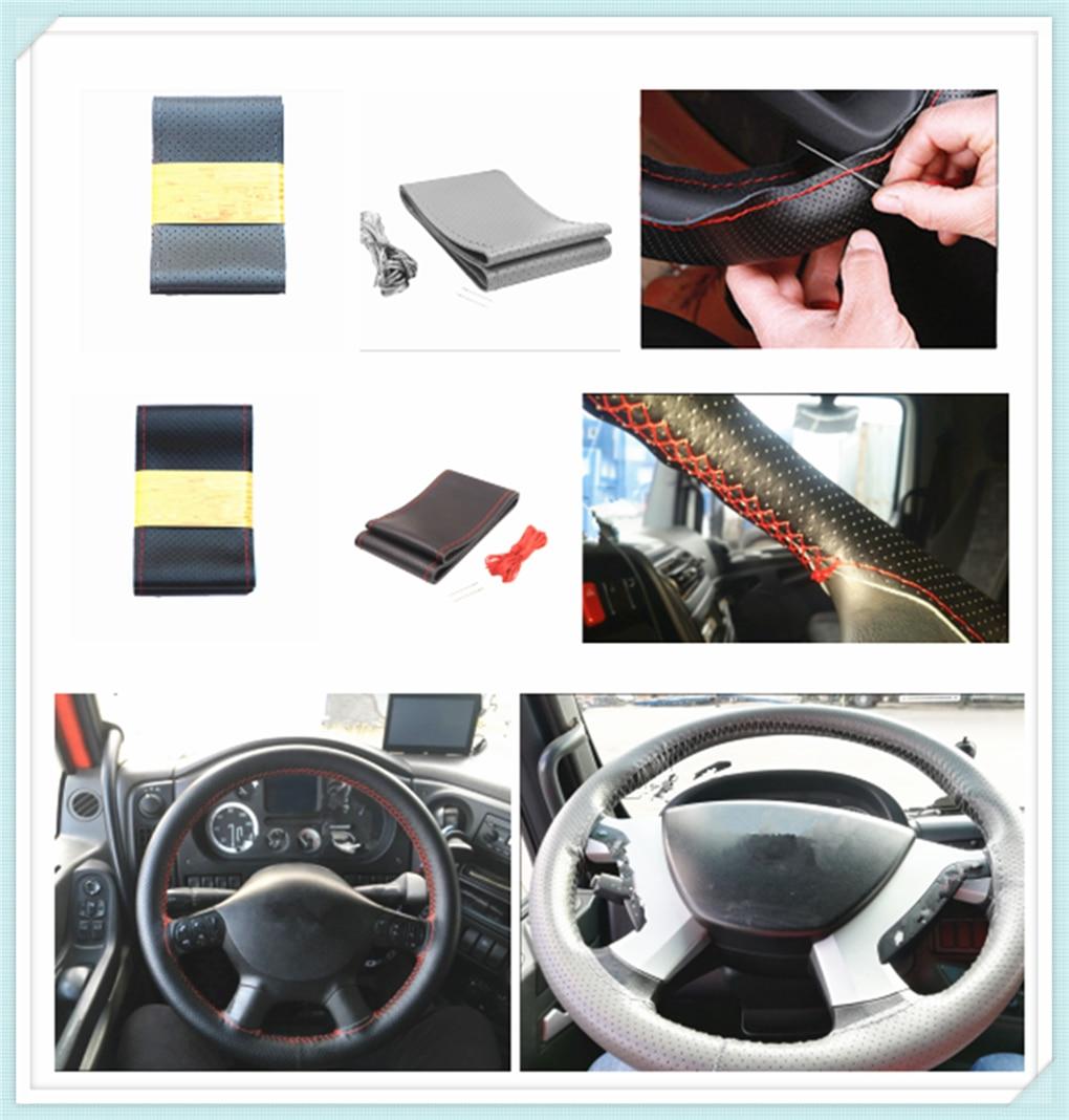 Car steering wheel cover leather truck bus bus card 42/45/47/50 CM for Isuzu F E N C Series