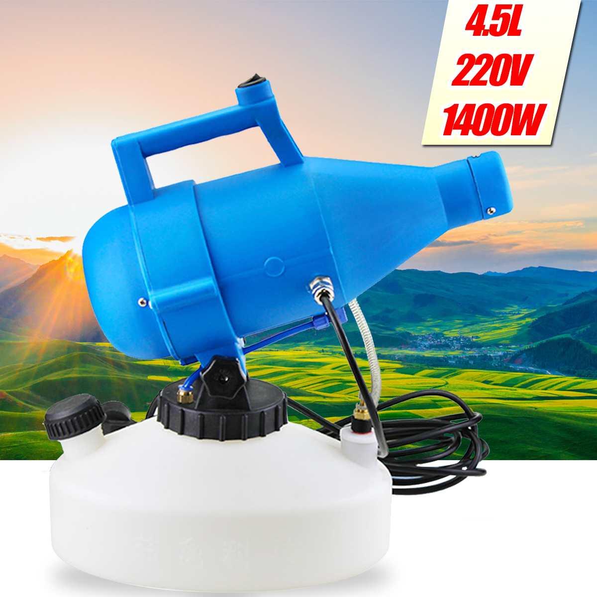 220V 4.5L 1400W Draagbare Elektrische Ulv Fogger Machine Spuit Hotels Desinfectie Thuis Sterilizat Residence Kantoor Industrie