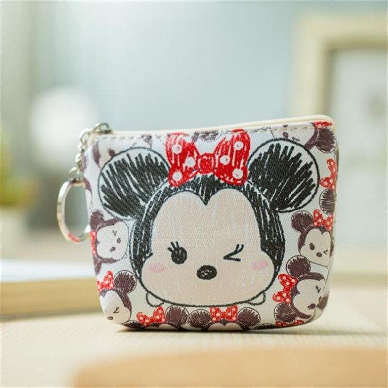 Disney Minnie Mouse портативный многоцелевой кошелек для хранения монет tsum, сумка из искусственной кожи с мультипликационным стичем