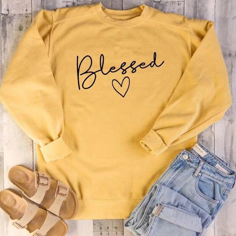 Sudadera bendita unisex eslogan Hipster bautismo cristiano inspiracional tumblr envío tops- L882