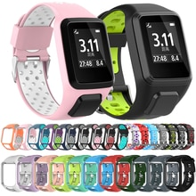 Silicone Replacement Watchband for Tom Tom 2 3 Series Watch Strap Wrist Band Strap For TomTom Runner