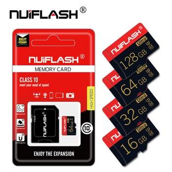 Cartes micro SD grande vitesse class10 de 4, 8, 16, 32, 64 ou 128 Go, blocs mémoire TF avec adaptateur gratuit