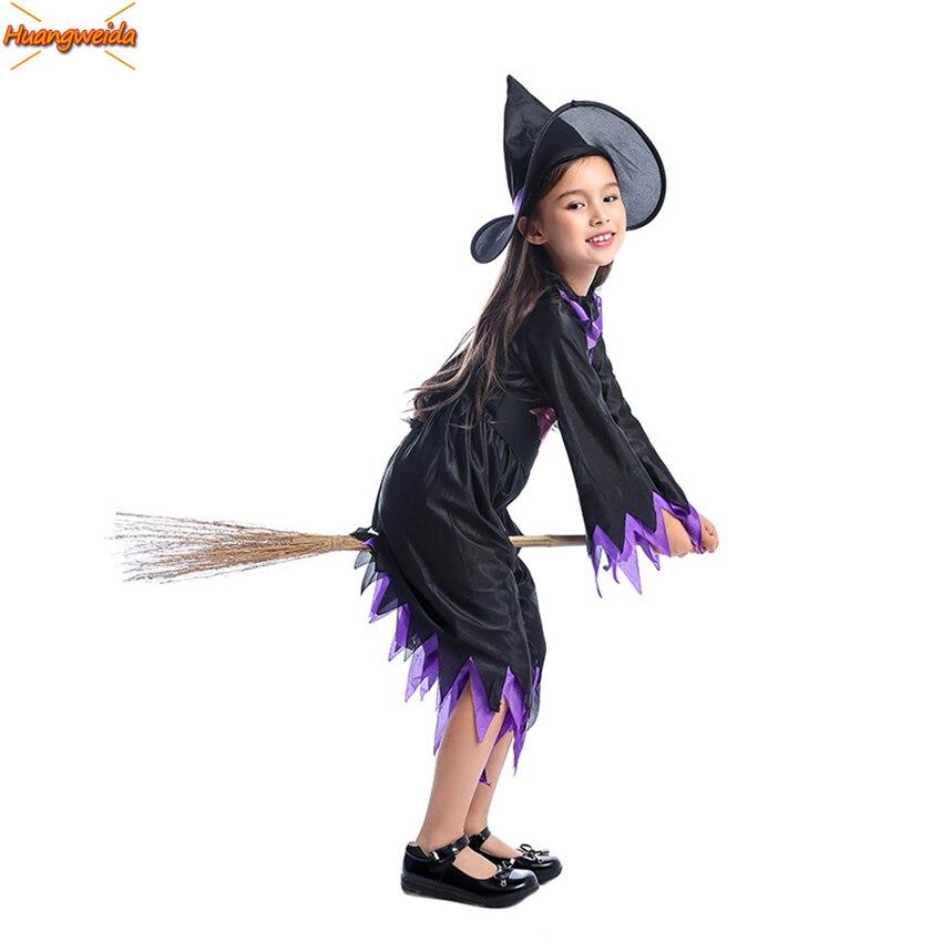 Костюм ведьмы, платья для девочек, косплей-волшебник, аниме, карнавальные костюмы на Хэллоуин для детей, волшебный призрак, Фантастические К...