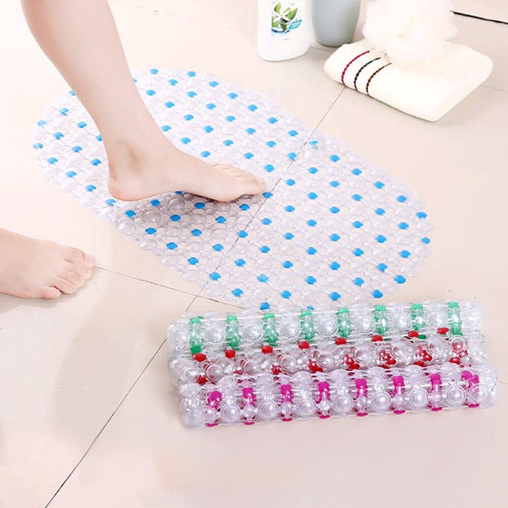Alfombrilla transparente para baño alfombrilla para ducha ventosa tapetes de bañera alfombrilla de baño antideslizante de PVC 62*35 cm productos de baño alfombrilla de baño