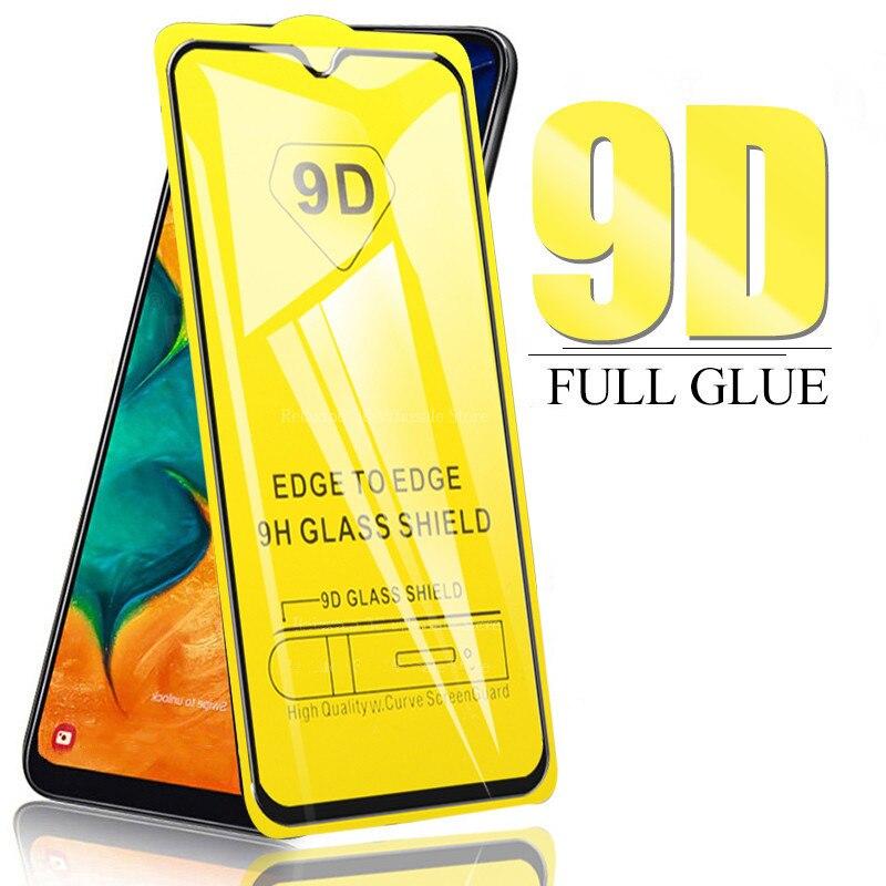 Aveolela para samsung a50/a30s/a50s/m20/s10 série 9d 9h hd nova borda preta temperado protetor de tela de vidro promoção