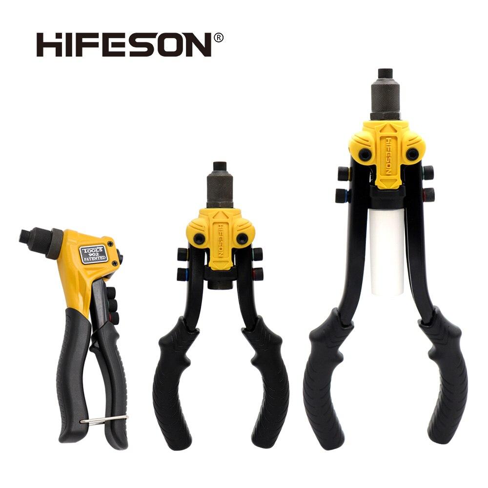 HIFESON-برشام يدوي ، مسدس أظافر ، أدوات إصلاح منزلية ، مسدس الصفصاف ، إدراج برشام