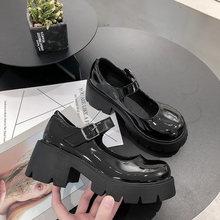 לוליטה נעלי נשים בסגנון יפני בציר רך אחות בנות גבוהה עקבים עמיד למים פלטפורמת סטודנט קוספליי תלבושות נעלי