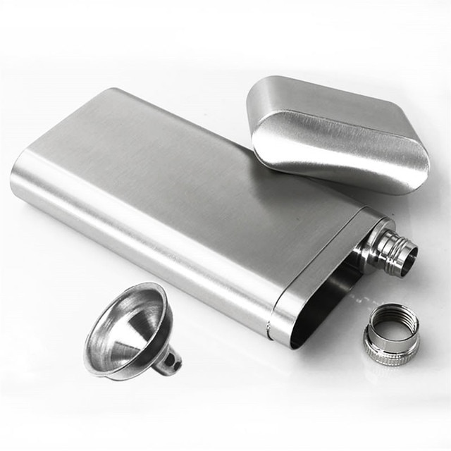 Stainless Steel Wine and Cigar Case with Funnel Cigarette Box Hip Flask Liquor Tube Outdoor Bottle Beer Whiskey Drinkware 10