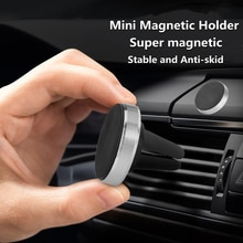 BSLIUFANG NEW Magnetic Car Phone Holder Rotatable Mini Stand For Huawei Metal Strong Magnet GPS Car