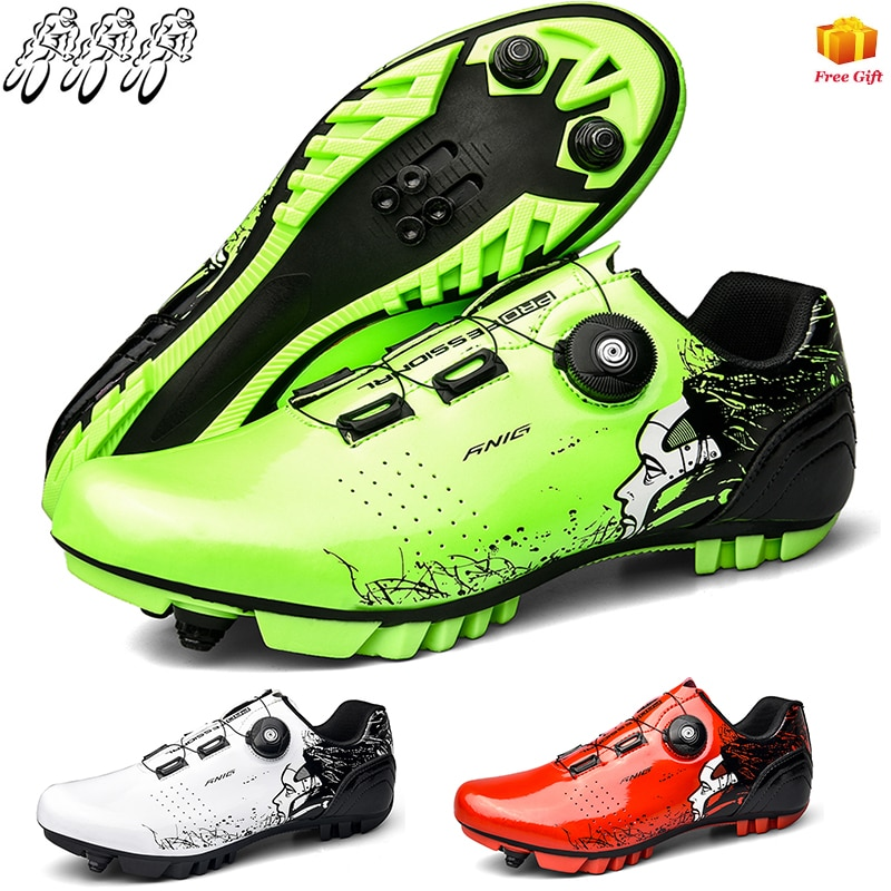 Mountain Cycling Shoes Men's MTB Cycling Outdoor Hiking Sports Shoes SPD Self-Locking Self-Locking Shoes Road Cycling Shoes