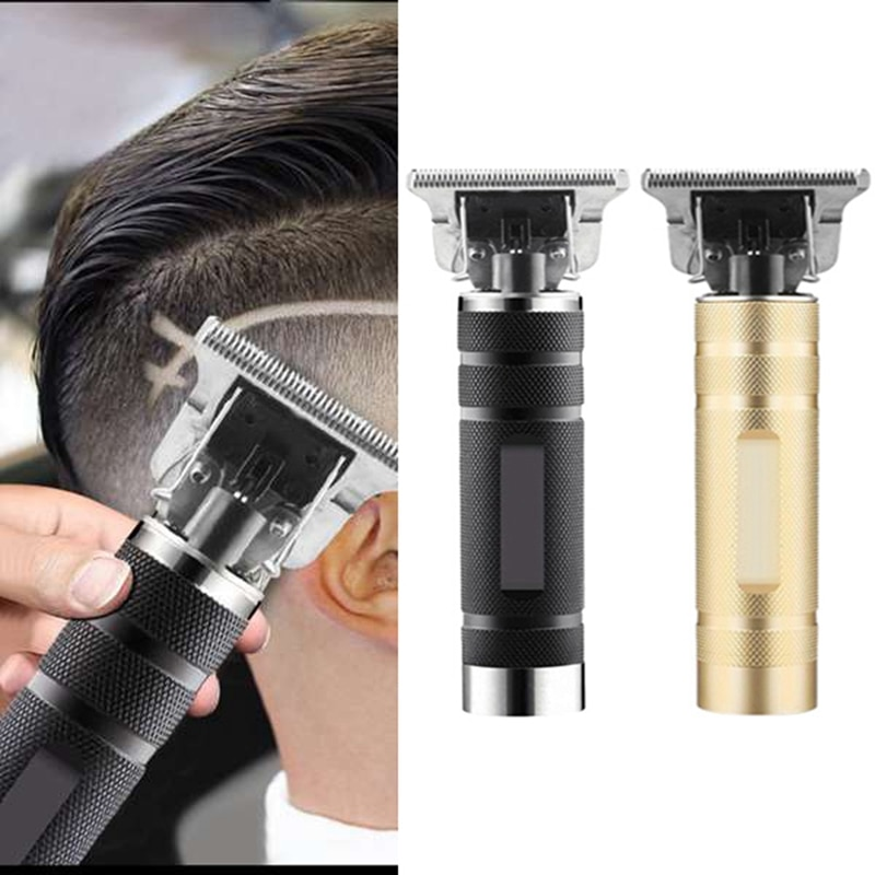 ¡Oferta! Máquina cortadora de pelo sin cuerda esqueleto t-outliner sin aceite oro + plata