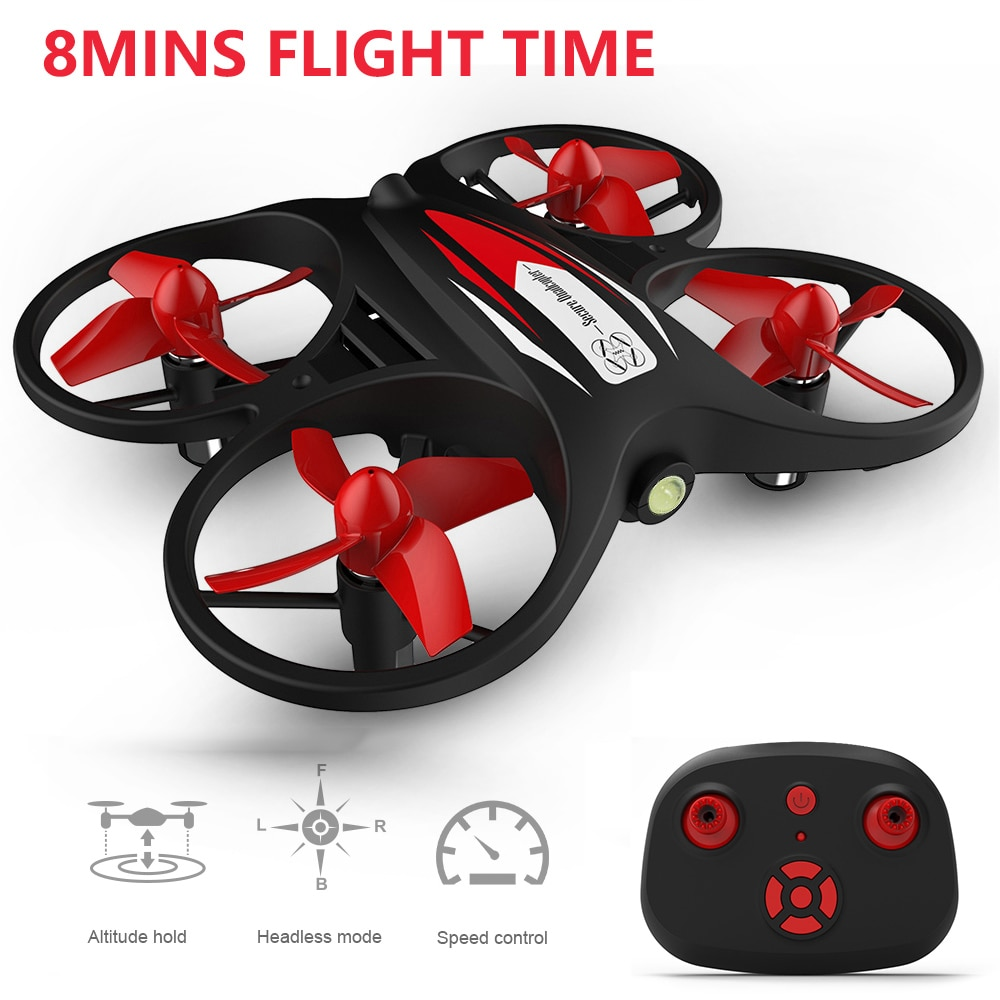 KF608 RC Quadcopter para niños 8 minutos tiempo de vuelo de altitud Mantener modo sin cabeza 2,4G Mini RC Drone helicóptero RTF juguetes VS E016H H49