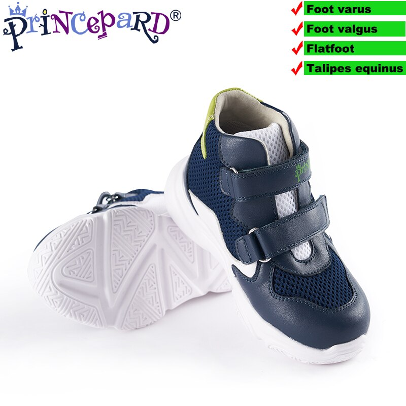 New Orthopedic Shoes for Kids Princepard Children Autumn Sports Sneaker Navy White add Orthopedic Insoles enlarge