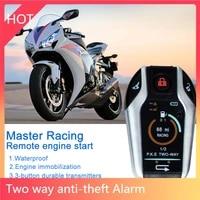 motorcycle alarm anti theft two way with induction remote control for hondasuzukikawasakiyamaha motorcycles
